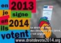 Droit de vote pour tous les résidents dès 2014
